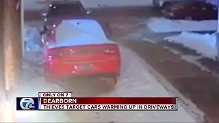 Dearborn police alert residents that thieves are targeting warming cars - Video