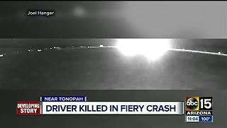 Driver killed in firey I-10 crash - Video