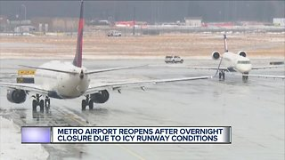 Detroit Metro Airport now open after overnight closure due to weather