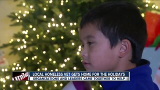 Homeless vet gifted a home for the holidays
