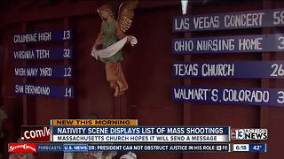 Nativity scene honors mass shooting victims - Video