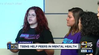 Avondale teens help peers dealing with mental health issues