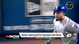 Eric Hosmer makes a good first impression with Padres - Video