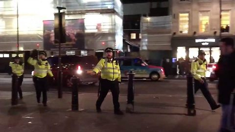 """Witnesses Claim Gang Fight Started """"Terror"""" Panic In London"""