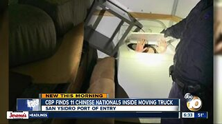Chinese nationals found hidden inside moving truck at border crossing