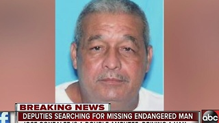 Deputies search for missing endangered man - Video