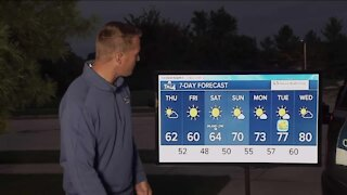 Cooler temperatures move in Thursday