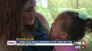 Corrections deputy suspended after Hurricane Irma - Video