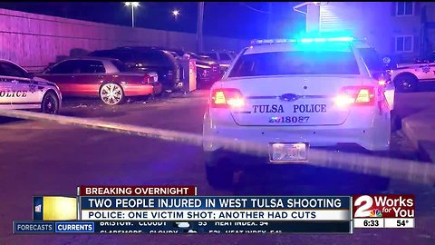 Two injured in overnight shooting in West Tulsa