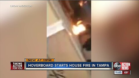 Tampa residents, pet sugar glider OK after house fire caused by hoverboard