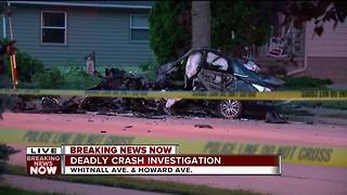 Driver killed in Milwaukee after losing control, hitting tree - Video