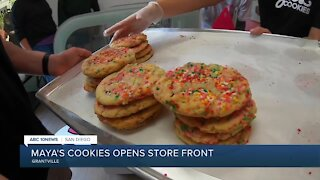 Maya's Cookies opens storefront after social media push