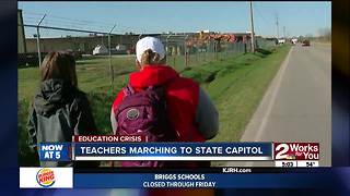 Teachers march to Capitol - Video