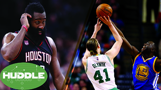 Is James Harden CHOKING vs Spurs? Draymond Green & Isaiah Thomas FIGHT Over Kelly Olynyk -The Huddle - Video