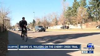 Bicyclists, pedestrians clash over rules on Cherry Creek Trail - Video