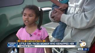 Little girl faces woman who kidnapped her - Video