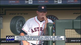 Astros fire manager AJ Hinch, GM Jeff Luhnow after sign-stealing investigation