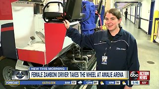 Lightning has NHL's only full-time female Zamboni driver