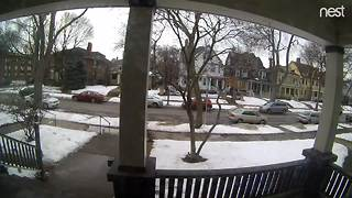 Man stealing package off front porch caught on surveillance video - Video