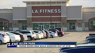 Woman saves man suffering heart attack at Allen Park L.A. Fitness