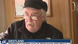 Retired radio DJ camps out in Marathon for Meals - Video