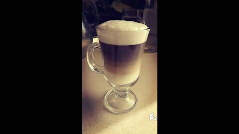 Latte coffee made by yourself