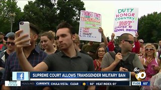 Supreme Court allows transgender military ban