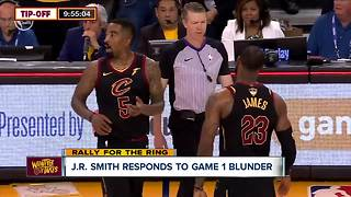 J.R. Smith responds to Game 1 blunder