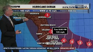 Hurricane Dorian even stronger packing 140 mph winds, a Category 4 storm