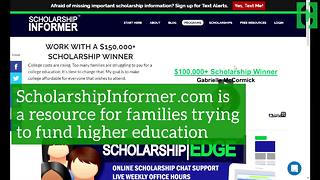 Online scholarship tools can help put a dent in tuition costs - Video