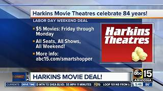 Harkins Theatres celebrates birthday with $5 movies over Labor Day weekend - Video