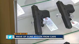 Wave of guns stolen from cars - Video