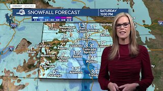 Snow arriving on Saturday in Denver