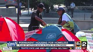 Mayor Pugh authorizes plan to move homeless out of tent city - Video