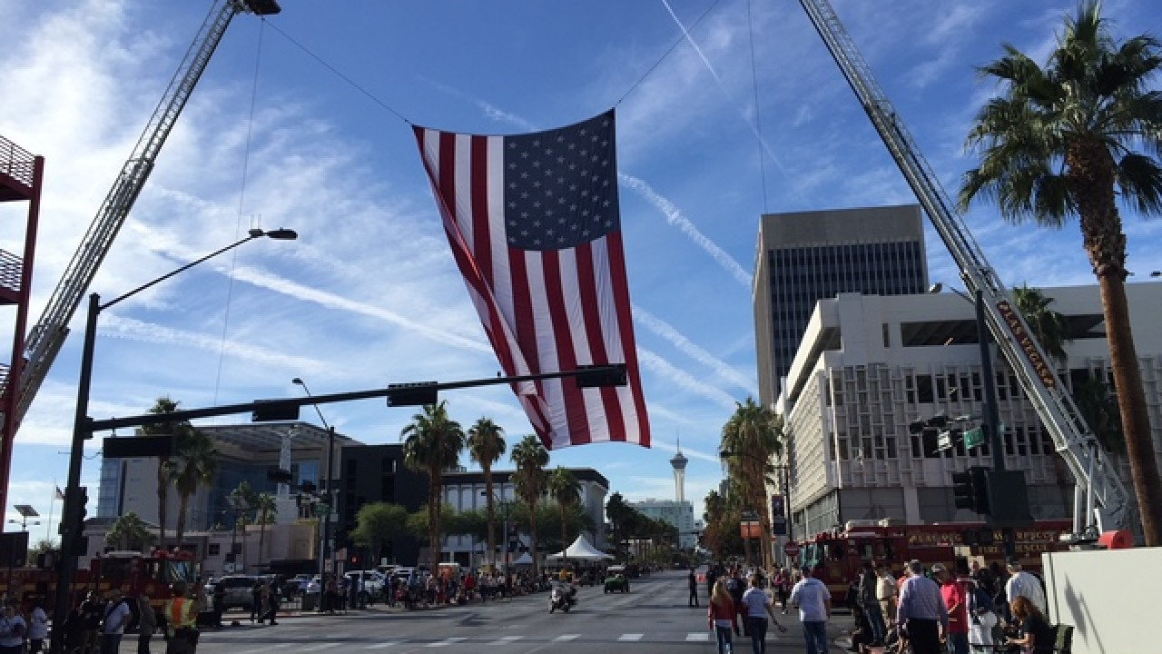 2019 Veterans Day Parade in downtown Las Vegas