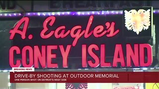 Drive-by shooting at outdoor memorial