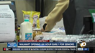 Walmart opening early for senior shoppers