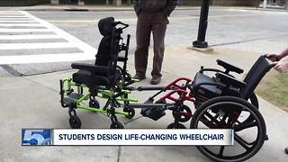 University of Akron students create life-changing design for family with two wheelchair-bound kids - Video