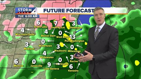 Cold rain and ice makes for sloppy commute