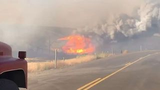 More Evacuations Issued as Substation Fire Burns Over 36,000 Acres in Oregon - Video