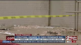 Engineers to tour Tulsa mall following tornado - Video
