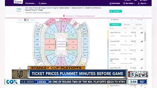 Ticket prices plummet right before game - Video