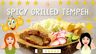 Spicy grilled tempeh recipe