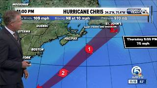 Chris strengthens into a Category 2 hurricane