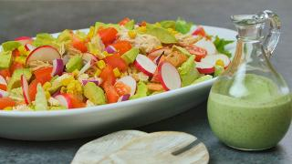 Chicken Taco Salad with Creamy Cilantro Lime Dressing - Video