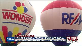 Tulsa Balloon Festival kicks off Wednesday night - Video