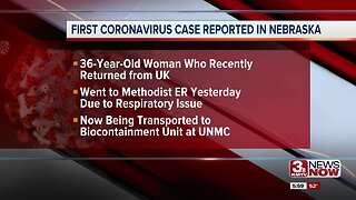 Douglas County woman is Nebraska's first positive case of coronavirus