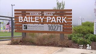 Vivian C. Millie Bailey Neighborhood Square ribbon cutting, park named after WWII veteran
