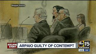 Joe Arpaio found guilty in criminal contempt case - Video