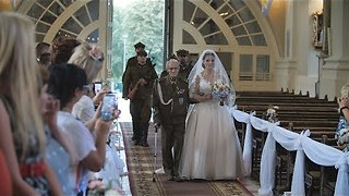 94-Year-Old WWII Hero Walks Granddaughter Down The Aisle At Her Wedding - Video
